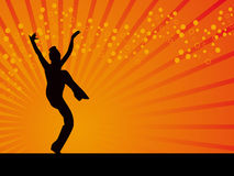 Disco dancing pose vector background Stock Images