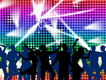 Disco Dancing Shows Nightclub Discotheque And Fun Stock Images