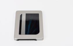 Disco de circuito integrado da movimentação no fundo branco Foto de Stock Royalty Free