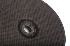 Disco de corte preto isolado no fundo branco imagem de stock royalty free