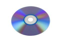 Disco de DVD aislado en blanco Imágenes de archivo libres de regalías