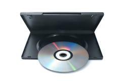 Disco de DVD com caso Imagens de Stock