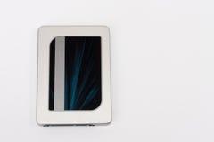 Disco de estado sólido de la impulsión en el fondo blanco Fotos de archivo