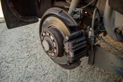 Disco de freio do carro - roda de mudança Foto de Stock Royalty Free