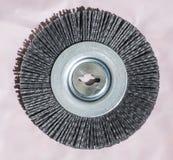Disco de la abrasión - acero - detalle fino fotografía de archivo