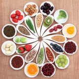 Disco de la comida sana Imagen de archivo libre de regalías