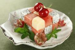 Disco de la fruta fresca Imagen de archivo