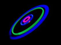 Disco de la luz en la oscuridad Imagen de archivo