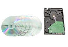 Disco de la unidad de disco duro y del DVD Fotografía de archivo