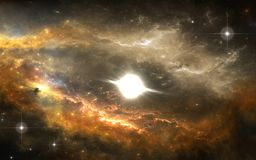 Disco de Protoplanetary Sistema planetário novo Imagem de Stock