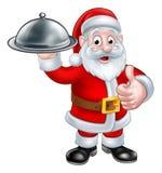Disco de Santa Christmas Cartoon Holding Food libre illustration
