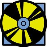 Disco de vídeo compacto ou digital Imagem de Stock