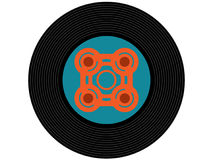 Disco de vinilo coloreado de la música Fotografía de archivo