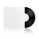 Disco de vinilo con la cubierta Fotos de archivo libres de regalías