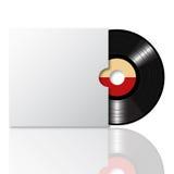 Disco de vinilo con la cubierta 2 Foto de archivo libre de regalías