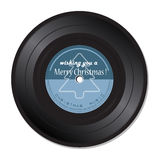Disco de vinilo con música de la Navidad Fotografía de archivo