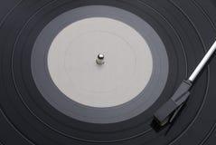 Disco de vinilo con Tone Arm imagenes de archivo
