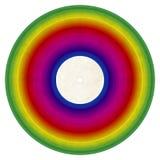Disco de vinilo del arco iris imágenes de archivo libres de regalías