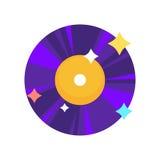 Disco de vinilo púrpura Fotografía de archivo libre de regalías