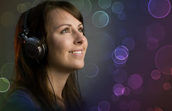 Disco deejay girl Stock Image