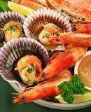 Disco dei frutti di mare Immagine Stock