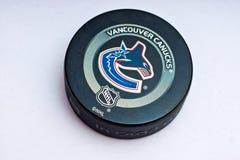 Disco dei Vancouver Canucks Immagini Stock Libere da Diritti