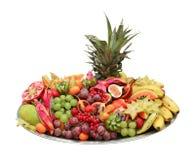 Disco del buffet della frutta Immagini Stock Libere da Diritti