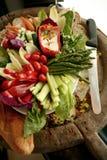 Disco del crudite de las verduras frescas Fotografía de archivo libre de regalías
