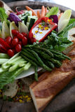 Disco del crudite de las verduras frescas Fotografía de archivo