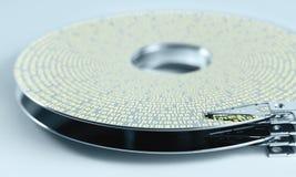 Disco del disco rigido e braccio di azionatore Fotografia Stock