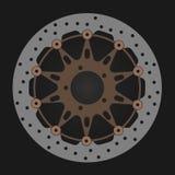 Disco del freno de las bicis stock de ilustración