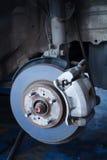 Disco del freno e un hub di ruota Fotografia Stock Libera da Diritti