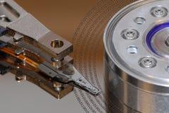 Disco del mecanismo impulsor duro con datos Imágenes de archivo libres de regalías