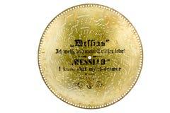 Disco del metallo dalla suoneria musicale antica fotografia stock libera da diritti
