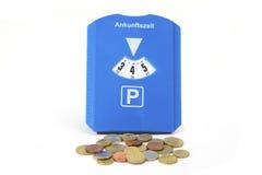 Disco del parco con le monete di eruo Fotografie Stock Libere da Diritti