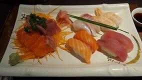 Disco del Sashimi Imágenes de archivo libres de regalías
