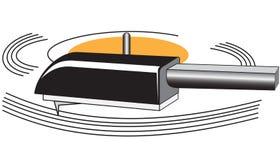 Disco del vinilo con el brazo de tono ilustración del vector