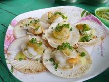Disco delicioso de los mariscos, Tailandia Imagenes de archivo