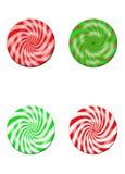 Disco della caramella di quattro Mulitcolored Fotografia Stock Libera da Diritti
