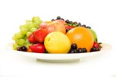 Disco della frutta con Apple Fotografia Stock Libera da Diritti