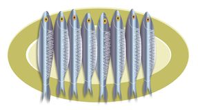 Disco della sardina royalty illustrazione gratis