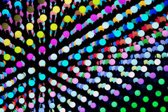 Colors background. Pearls of many colours in lines, like an explosion or a molecule structure. Bright, vivid and modern illustration design, for a young Stock Photography
