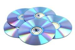 Disco di DVD & del CD Fotografia Stock
