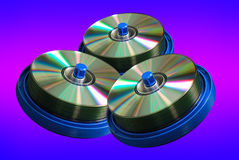 Disco di DVD e del CD Immagine Stock