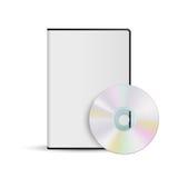 Disco di DVD e modello della scatola per la vostra progettazione Fotografia Stock Libera da Diritti
