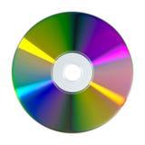 Disco di DVD o del CD su fondo bianco Immagini Stock Libere da Diritti