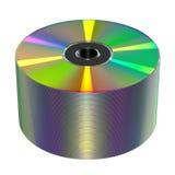 Disco di DVD o del CD su fondo bianco Fotografie Stock Libere da Diritti