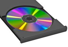 Disco di DVD o del CD su fondo bianco Immagini Stock