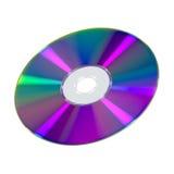 Disco di DVD o del CD su fondo bianco Fotografia Stock