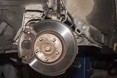 Disco di freno dell'automobile fotografie stock